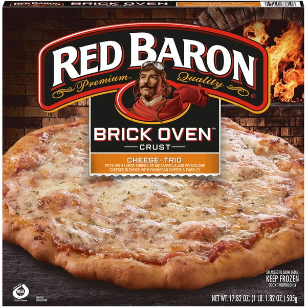 Red Baron Brick Oven Crust Cheese Trio Pizza