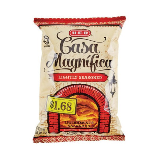 H-E-B Casa Magnifica Lightly Seasoned Tortilla Chips