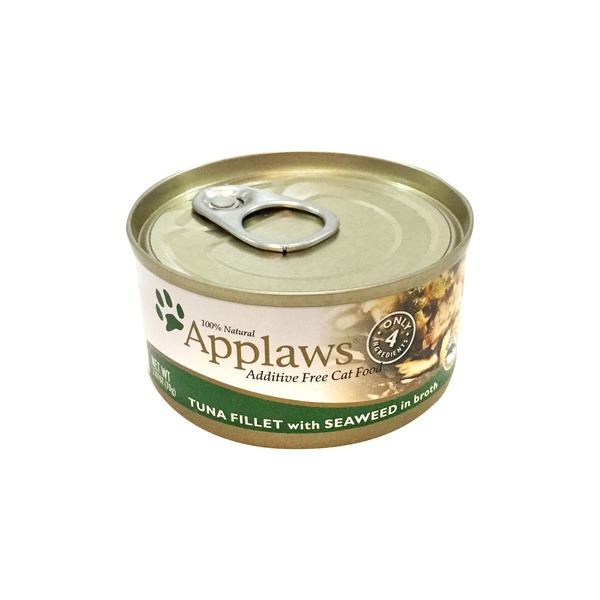 Applaws Tuna Fillet with Seaweed In Broth Cat Food