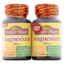 Nature Made Magnesium Tablets Twin Pack, 250 mg, 200 count