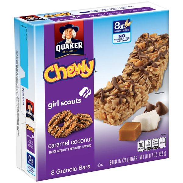 Quaker Chewy Girl Scout Caramel Coconut Granola Bar