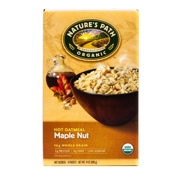 Nature's Path Organic Hot Oatmeal Maple Nut - 8 CT