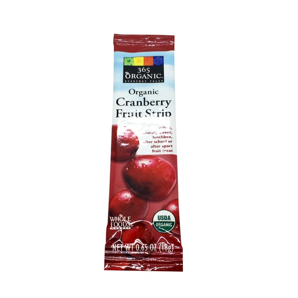 365 Organic Cranberry Fruit Strip