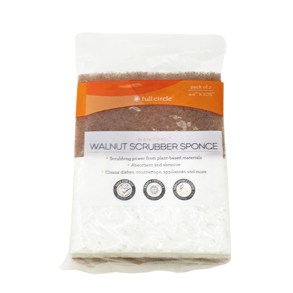 Full Circle Cleaning Products Walnut Scrubber Sponge