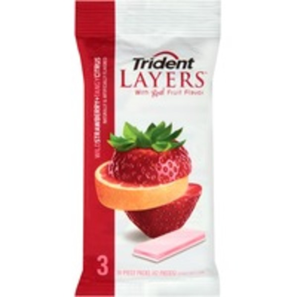 Trident Layers Wild Strawberry + Tangy Citrus Sugar Free Gum