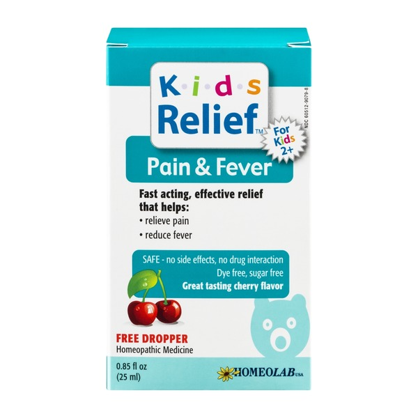 Kids Relief Pain & Fever Cherry Flavor Homeopathic Medicine