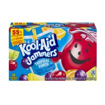 Kool-Aid Jammers Fruit Juice Pouches, Tropical Punch, 6 Fl Oz, 10 Count