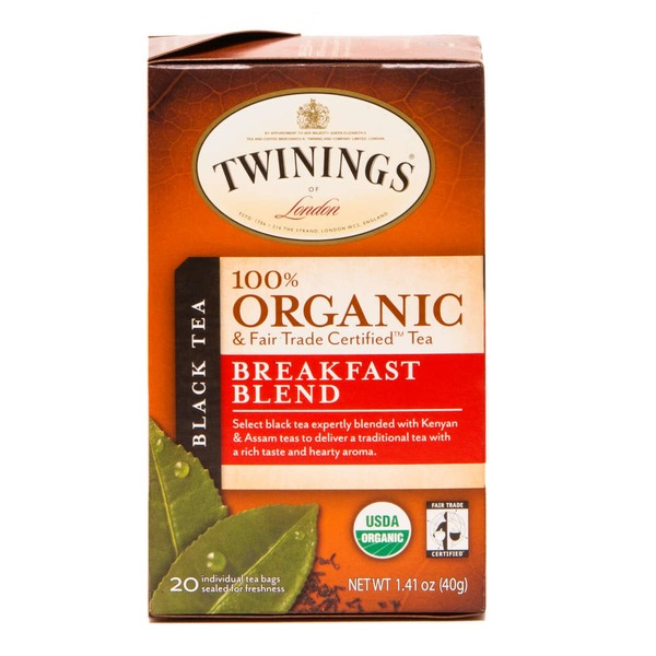 Twinings Organic & Fair Trade Certified Breakfast Blend Black Tea