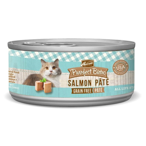 Merrick Purrfect Bistro Grain Free Salmon Pate Canned Cat Food