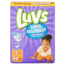 Luvs Super Absorbent Leakguards Diapers, Size 3, 34 Diapers