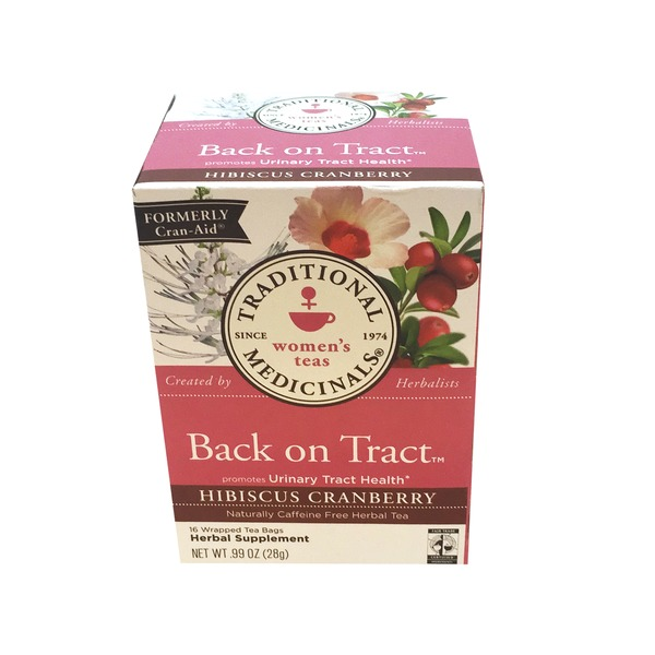 Traditional Medicinals Back On Tract Hibiscus Cranberry Tea Bags - 16 CT