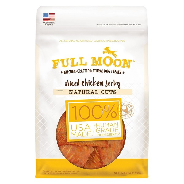 Perdue Full Moon Dog Treats Natural Cut Chicken Jerky
