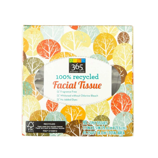 365 100% Recycled Facial Tissue