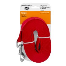 Pet Champion 20' Training Leash, (Large/X-Large)