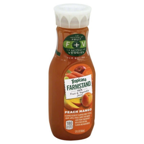 Tropicana Farmstand Peach Mango 100% Fruit & Vegetable Juice