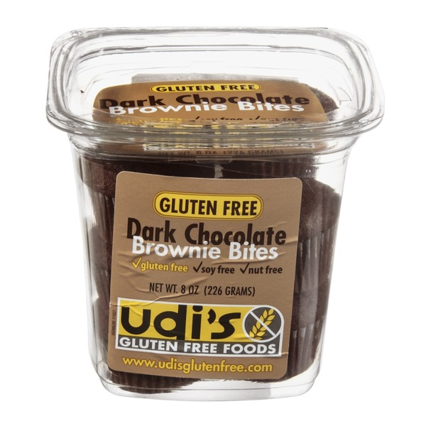 Udi's Dark Chocolate Brownie Bites Gluten Free