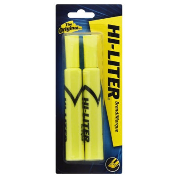 Avery 2pk Bonus Yellow Hiliter