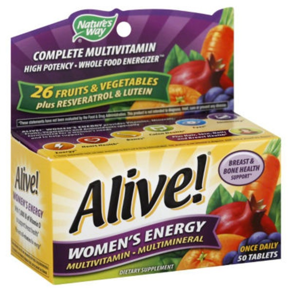 Nature's Way Alive! Multi-Vitamin Women's Energy - 50 CT