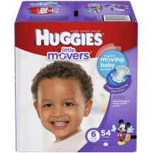 HUGGIES Little Movers Diapers, Size 6, 54 Diapers