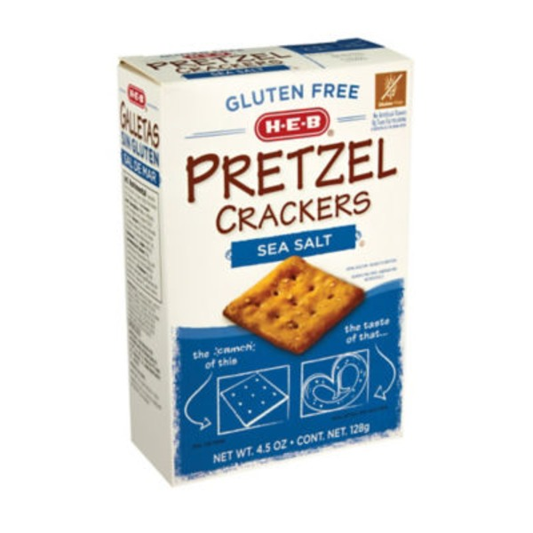 H-E-B Pretzel Crackers Sea Salt
