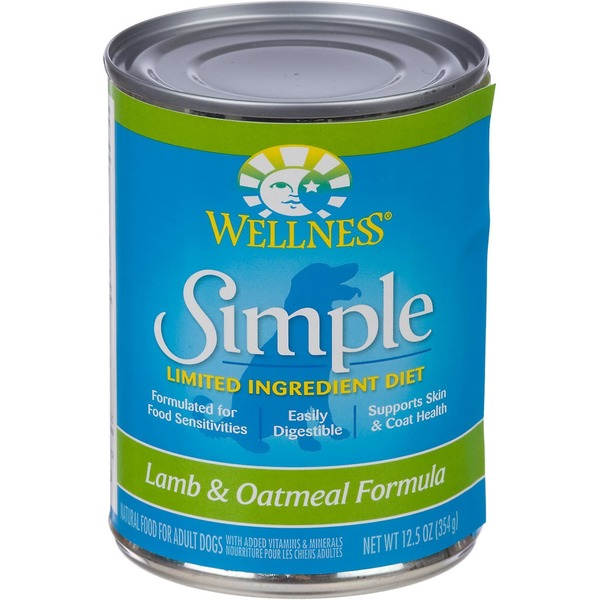 Wellness Simple Limited Ingredient Diet Lamb & Oatmeal Canned Dog Food