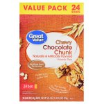 Great Value Chewy Chocolate Chunk Granola Bars, Value Pack, 20.3 oz, 24 Count