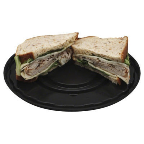 H-E-B Fresh Sandwiches Peppercorn Turkey, Pesto & Jack Cheese
