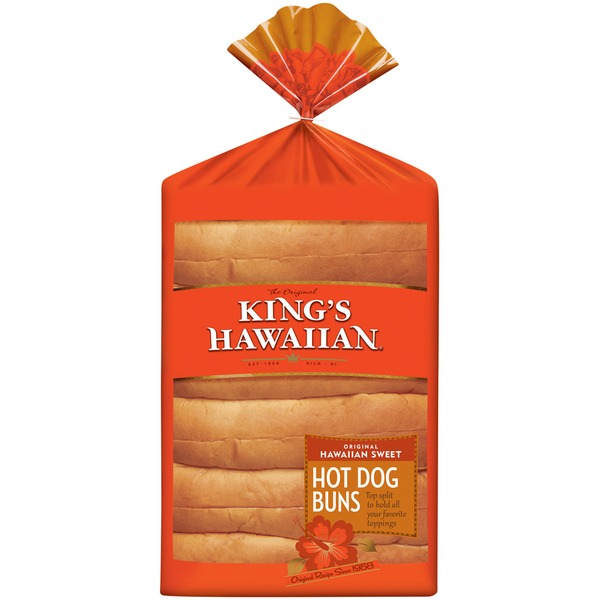King's Hawaiian Original Hawaiian Sweet Hot Dog Buns