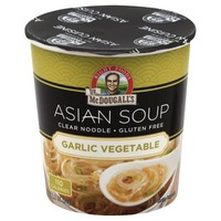Dr. McDougall's Right Foods Clear Noodle Gluten Free Soup Garlic Vegetable