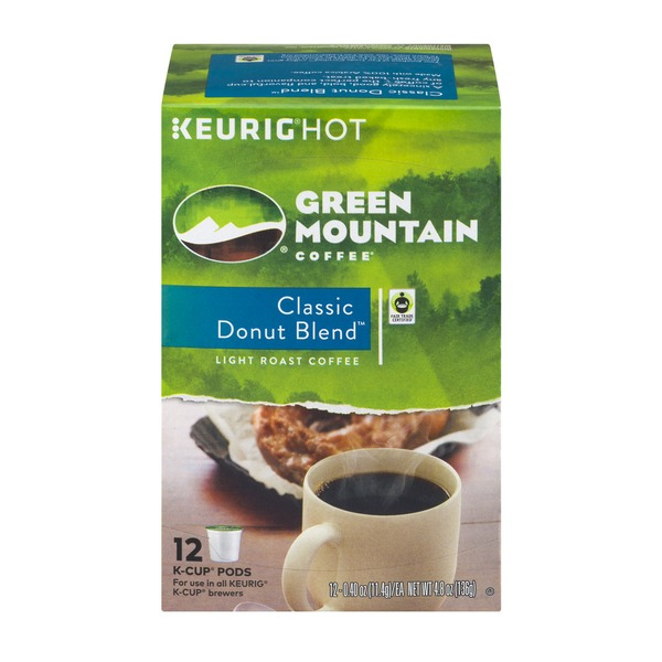 Green Mountain Coffee Classic Donut Blend Light Roast K-Cup Pods - 12 CT