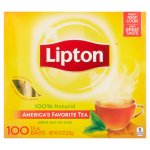 Lipton 100% Natural Tea, Black Tea, Tea Bags, 100 Ct