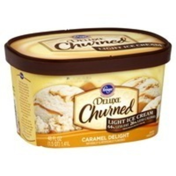 Kroger Deluxe Light Ice Cream Caramel Delight