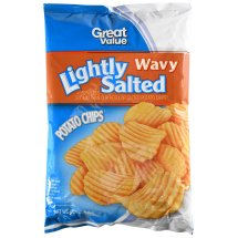 Great Value Lightly Salted Wavy Potato Chips 8 oz