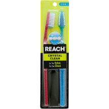Reach Crystal Clean Adult Toothbrushes Value Pack, Firm, 2 Ct