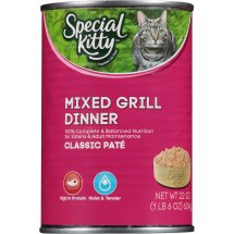 Special Kitty Classic Pate Mixed Grill Dinner Wet Cat Food, 22 Oz