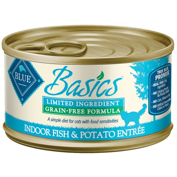 Blue Buffalo Cat Food, Moist, Fish & Potato Entree, Can