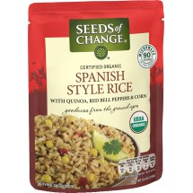 Seeds of Change Certified Organic Spanish Style Rice with Quinoa, Red Bell Peppers & Corn, 8.5 oz.