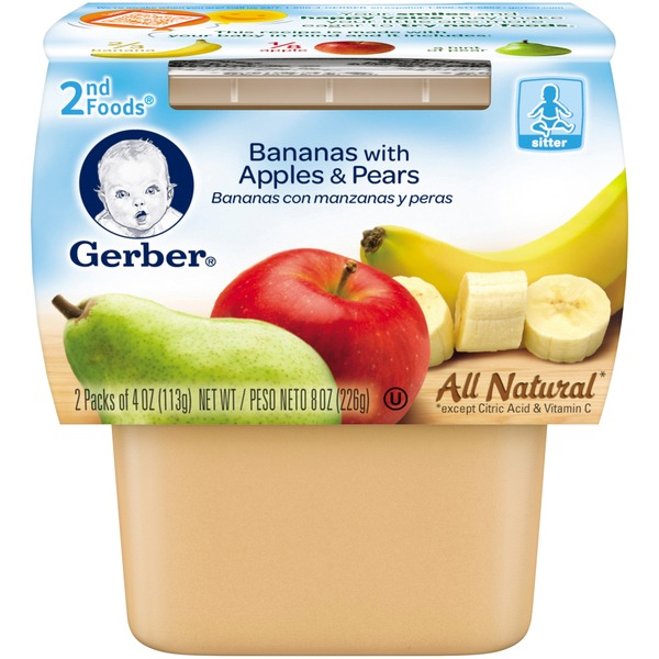 Gerber 2 Nd Foods Bananas with Apples & Pears Baby Food