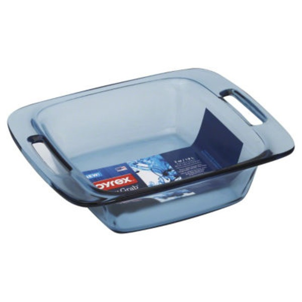 Pyrex Atlantic Blue 8 Inch Easy Grab Square Dish