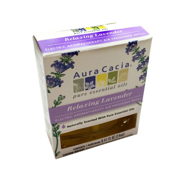 Aura Cacia Relaxing Lavender Electric Aromatherapy Air Freshener Refill