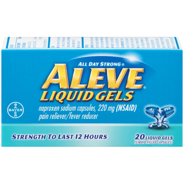Aleve Naproxen Sodium 220mg Liquid Gels Pain Reliever/Fever Reducer