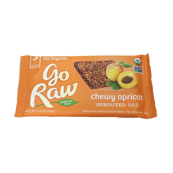 Go Raw Organic Gluten Free Apricot Raisin Sprouted Flax Bar