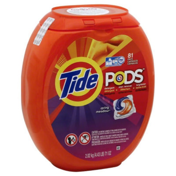 Tide PODS Laundry Detergent, Spring Meadow, 81 count, Designed for Regular and HE Washers Laundry