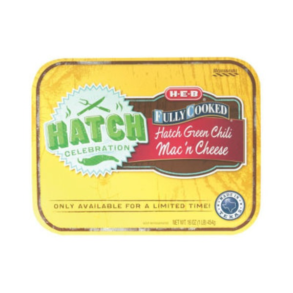 H-E-B Fully Cooked Hatch Green Chili Mac 'n Cheese