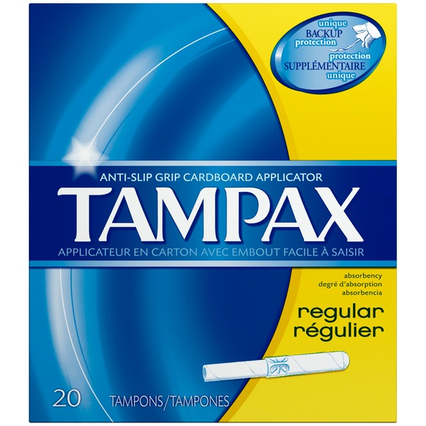 Tampax Cardboard Regular Tampons, Unscented, 20 count Feminine Care