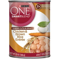 Purina One Dog Wet SmartBlend Tender Cuts in Gravy Chicken & Brown Rice Entree Adult Dog Food