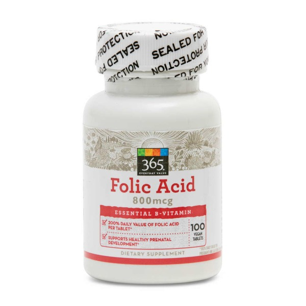 365 Folic Acid Tablets 800 mcg