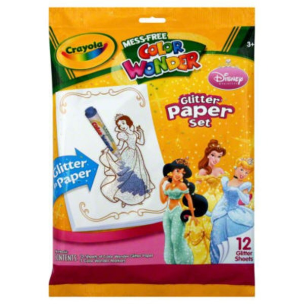 Crayola Color Wonder Glitter Princess Paper Set