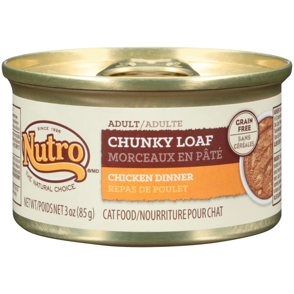 Nutro Adult Chunky Loaf Chicken Dinner Cat Food