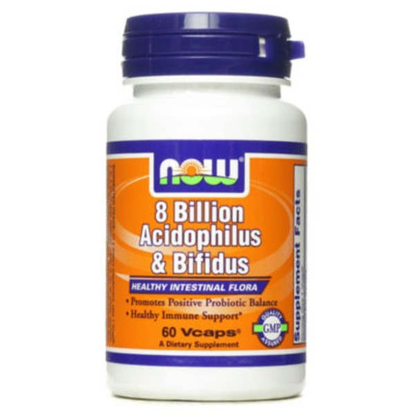 Now Acidophilus And Bifidus 8 Billion